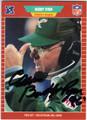 BUDDY RYAN PHILADELPHIA EAGLES AUTOGRAPHED FOOTBALL CARD #32413A