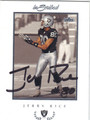 JERRY RICE OAKLAND RAIDERS AUTOGRAPHED FOOTBALL CARD #32713B