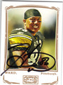 HINES WARD PITTSBURGH STEELERS AUTOGRAPHED FOOTBALL CARD #32813J