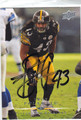 TROY POLAMALU AUTOGRAPHED FOOTBALL CARD #33011H