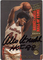 WES UNSELD AUTOGRAPHED BASKETBALL CARD #33013A