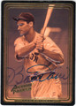 BOBBY DOERR BOSTON RED SOX AUTOGRAPHED BASEBALL CARD #33013F