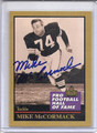 Mike McCormack Autographed Football Card 3423