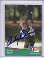 Andy Bean Autographed Golf Card 3576