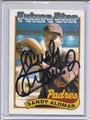 Sandy Alomar Jr Autographed Rookie Baseball Card 3675