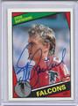 Steve Bartkowski Autographed Football Card 3687