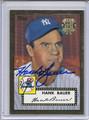 Hank Bauer Autographed Baseball Card 3761
