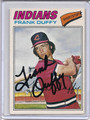 Frank Duffy Autographed Baseball Card 3778
