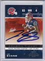 Lee Evans Buffalo Bills Autographed Football Card 3963