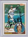 Scott McGregor Autographed Baseball Card 3981
