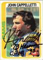 JOHN CAPPELLETTI AUTOGRAPHED VINTAGE FOOTBALL CARD #40112F
