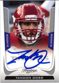 TANDON DOSS AUTOGRAPHED ROOKIE FOOTBALL CARD #40112J