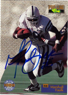 buy online ceafe dc8c5 MARSHALL FAULK AUTOGRAPHED ROOKIE FOOTBALL CARD 40112E