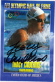 TRACY CAULKINS AUTOGRAPHED OLYMPIC SWIMMING CARD #40212F