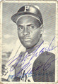 ROBERTO CLEMENTE AUTOGRAPHED DECKEL BASEBALL CARD #40211F