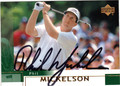 PHIL MICKELSON AUTOGRAPHED GOLF CARD #40512D