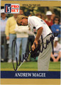 ANDREW MAGEE AUTOGRAPHED GOLF CARD #40513D