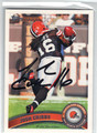 JOSH CRIBBS CLEVELAND BROWNS AUTOGRAPHED FOOTBALL CARD #40813F