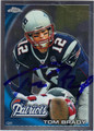TOM BRADY NEW ENGLAND PATRIOTS QUARTERBACK AUTOGRAPHED FOOTBALL CARD #40913H