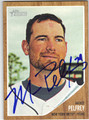MIKE PELFREY NEW YORK METS AUTOGRAPHED BASEBALL CARD #40913K