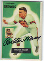 CARLTON MASSEY CLEVELAND BROWNS AUTOGRAPHED VINTAGE ROOKIE FOOTBALL CARD #40913M