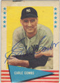 EARLE COMBS NEW YORK YANKEES AUTOGRAPHED VINTAGE BASEBALL CARD #41013B