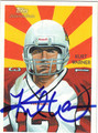 KURT WARNER AUTOGRAPHED FOOTBALL CARD #40912A