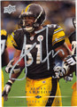JAMES FARRIOR PITTSBURGH STEELERS AUTOGRAPHED FOOTBALL CARD #41013F