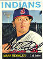 MARK REYNOLDS CLEVELAND INDIANS AUTOGRAPHED BASEBALL CARD #41013L
