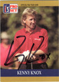 KENNY KNOX AUTOGRAPHED GOLF CARD #41113K