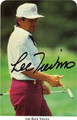 LEE TREVINO AUTOGRAPHED GOLF CARD #41212A