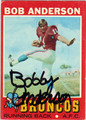BOBBY ANDERSON DENVER BRONCOS AUTOGRAPHED VINTAGE ROOKIE FOOTBALL CARD #41313B