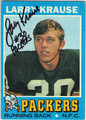 LARRY KRAUSE GREEN BAY PACKERS AUTOGRAPHED VINTAGE ROOKIE FOOTBALL CARD #41313L
