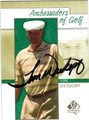 TOM WEISKOPF AUTOGRAPHED GOLF CARD #41412A