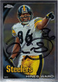 HINES WARD PITTSBURGH STEELERS AUTOGRAPHED FOOTBALL CARD #41412E