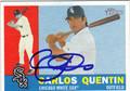 CARLOS QUENTIN AUTOGRAPHED BASEBALL CARD #41512R