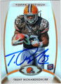TRENT RICHARDSON CLEVELAND BROWNS AUTOGRAPHED ROOKIE FOOTBALL CARD #41513L