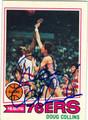 DOUG COLLINS PHILADELPHIA 76ers AUTOGRAPHED BASKETBALL CARD #41413N