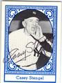 CASEY STENGEL NEW YORK YANKEES AUTOGRAPHED VINTAGE BASEBALL CARD #41613A