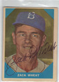 ZACK WHEAT BROOKLYN DODGERS AUTOGRAPHED VINTAGE BASEBALL CARD #41613D