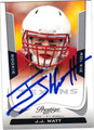 JJ WATT HOUSTON TEXANS AUTOGRAPHED ROOKIE FOOTBALL CARD #41713E
