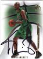 KEVIN GARNETT BOSTON CELTICS AUTOGRAPHED BASKETBALL CARD #41913J
