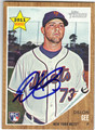 DILLON GEE NEW YORK METS AUTOGRAPHED ROOKIE BASEBALL CARD #41913i