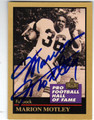 MARION MOTLEY CLEVELAND BROWNS AUTOGRAPHED FOOTBALL CARD #42013F