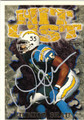 JUNIOR SEAU SAN DIEGO CHARGERS AUTOGRAPHED FOOTBALL CARD #42013i