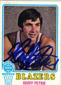 GEOFF PETRIE AUTOGRAPHED VINTAGE BASKETBALL CARD #42212D