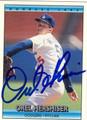 OREL HERSHISER LOS ANGELES DODGERS AUTOGRAPHED BASEBALL CARD #42213A