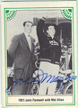 JOE DiMAGGIO NEW YORK YANKEES AUTOGRAPHED VINTAGE BASEBALL CARD #42213D