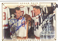 GORDIE HOWE & ALEX DELVECCHIO DETROIT RED WINGS DOUBLE AUTOGRAPHED HOCKEY CARD #42213J