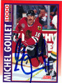 MICHEL GOULET AUTOGRAPHED HOCKEY CARD #42212B